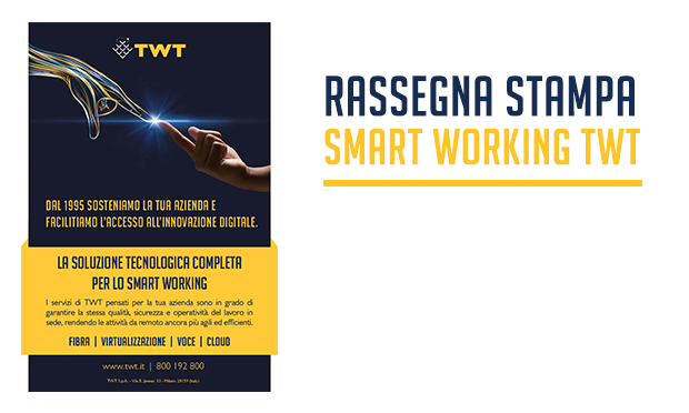rassegna stampa smart working twt